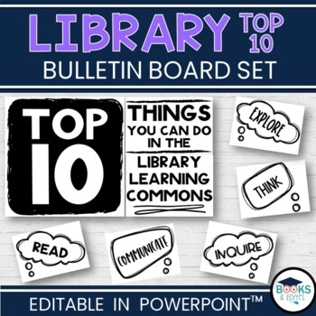 Library Learning Commons - Bulletin Board kit - Top 10 Thi