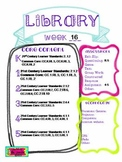 Library Lesson Plans K-5 Week 16