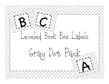 Library Leveled Labels Gray Dot
