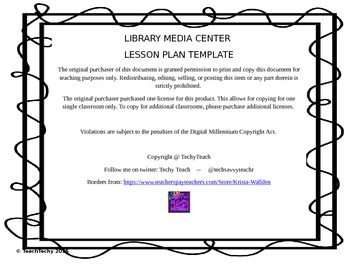 Library Media Center Lesson Plan