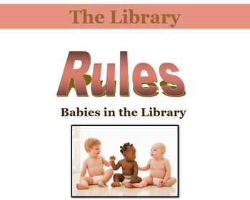 Library Orientation:  Babies in the Library Bundle