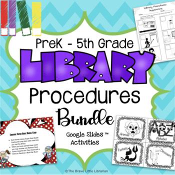 Library Procedures  PreK-5th Bundle