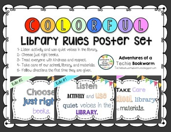 Library Rules Poster Pack