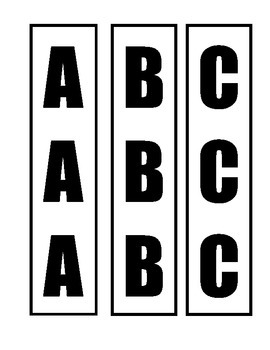 Library Shelf Markers ABC: Print on your own pattern paper