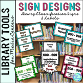 Dewey Decimal Signage for the Library/Media Center: 5 Diff