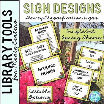 Dewey Decimal Theme Signage for the Library/Media Center: