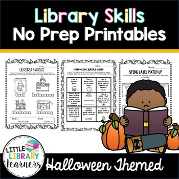 Library Skills No Prep Printables- Halloween Themed