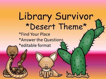 Library Survivor Desert Edition