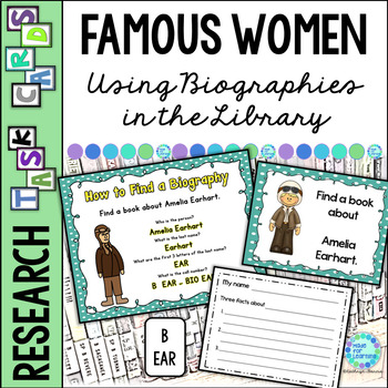 Library Task Cards: Biography Research: Famous Women in History