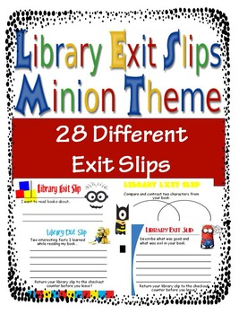 Library Exit Slips Minion Theme