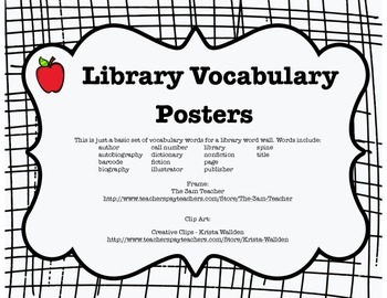Library Word Wall Posters