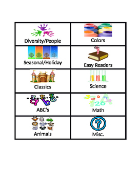 Library book basket labels