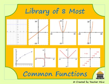 Library of 8 Most Common Functions Chart & Graphic Organizer
