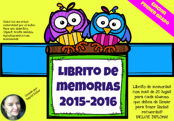 Librito de memorias! Memories book END OF THE YEAR! 1st grade
