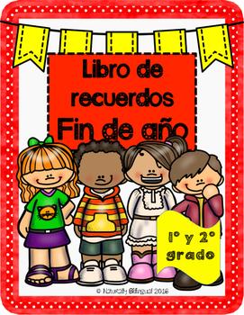 Libro de Recuerdos de fin de año en Español/ End of Year M