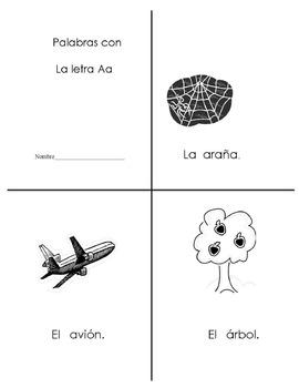 Libro de palabras Aa y Bb
