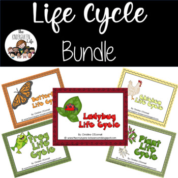 Life Cycle Bundle: frog, plant, butterfly, ladybug and chi