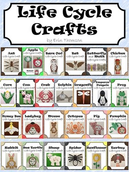 Life Cycle Crafts ~ The Bundle by Erin Thomson's Primary Printables