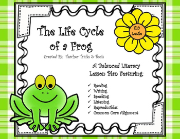 Life Cycle Of A Frog Balanced Literacy Lesson Plan