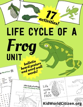 Life Cycle of Frogs: ELA, Math, and Science Activities, Cr