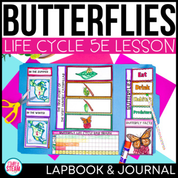 Butterfly Life Cycle Interactive Lapbook with 5E Lesson Pl