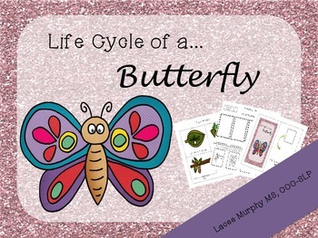 {FREEBIE} Life Cycle of a Butterfly: Interactive Book & Se
