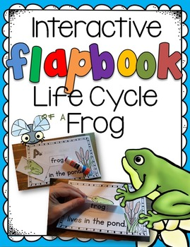 Life Cycle of a Frog Interactive Flapbook - beginning read