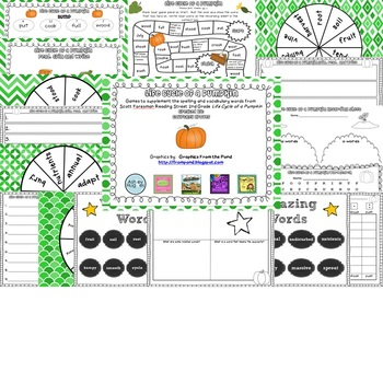 Life Cycle of a Pumpkin Spelling and Vocabulary Games
