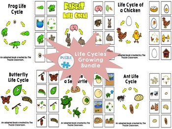 Life Cycles Adapted Book Growing Bundle