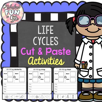 Life Cycles Cut and Paste Activity Set