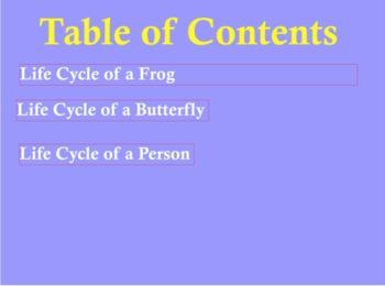 Life Cycles Tech Integration Unit Plan