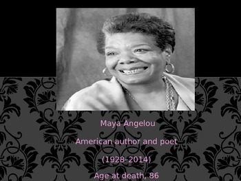 """""""Life Doesn't Frighten Me at All"""" Maya Angelou"""
