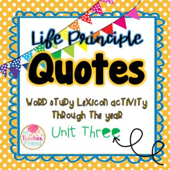 Life Principle Word Study Lexicon Activity Through the Yea