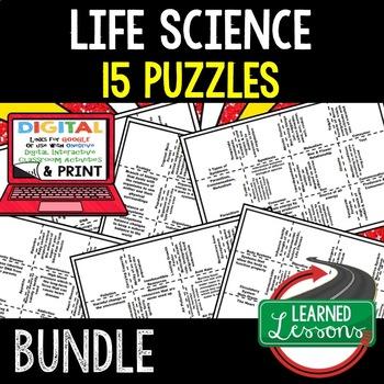 Life Science Puzzles BUNDLE  (Life Science Bundle)