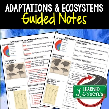 Life Science Adaptations and Ecosystems Guided Notes