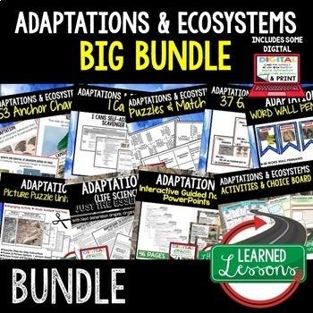 Life Science Adaptations BUNDLE  (Life Science Bundle)