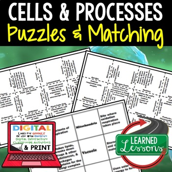 Life Science Cells and Processes Puzzles
