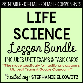 Life Science Curriculum (Interactive Notebooking, PowerPoi