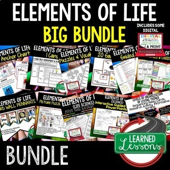 Life Science Elements of Life BUNDLE  (Life Science Bundle)