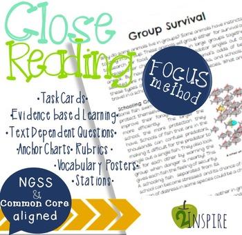 Life Science Group Adaptation Close Reading Evidence & Tex