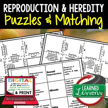 Life Science Heredity & Reproduction Puzzles