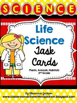 Life Science-Plant, Animals, Habitats Task Cards