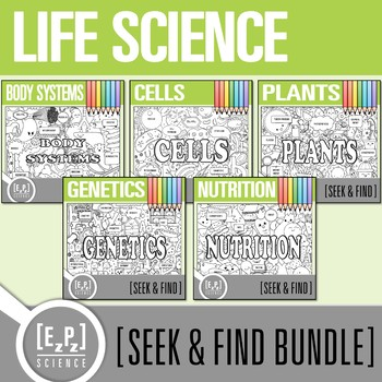 Life Science Seek & Find Doodle Pages Bundle