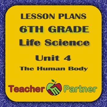 Lesson Plans: 6th Grade Life Science Unit 4 The Human Body