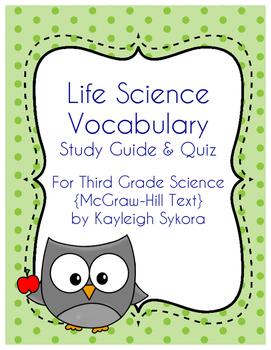 Life Science Vocabulary - Third Grade