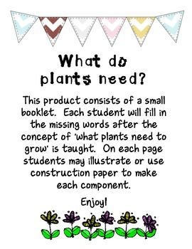 Life Science - What do plants need?