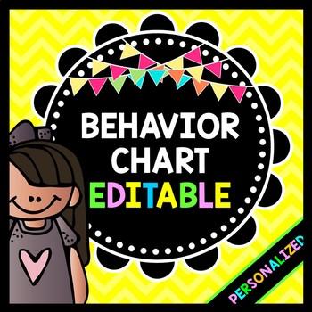 Life Skills Behavior Management: EDITABLE Behavior Chart w