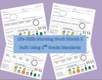 Life-Skills Morning Work Month 2 -  2nd Grade Level