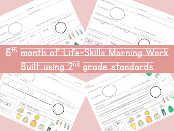 Life-Skills Morning Work Month 6 -  2nd Grade Level