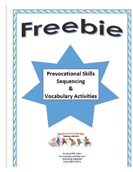 Life Skills/Prevocational Skills: Tools Sequencing & Vocabulary